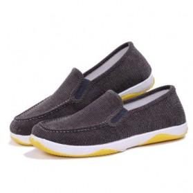Sepatu Slip On Bahan Flannel Size 39 - Gray - 1