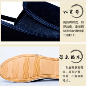VESONAL Sepatu Kasual Slip-on Pria Size 41 - E066 - Black - 5