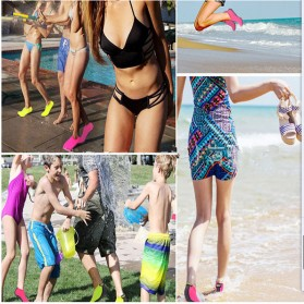 MWSC Sepatu Pantai Slip On Aqua Beach Slippers Size M - XH8002 - Pink - 2