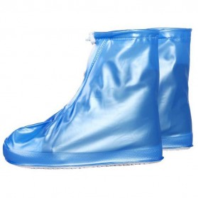 Cover Hujan Sepatu Waterproof Matte Color Size L - Blue