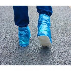 Favolook Cover Hujan Sepatu Waterproof Size M - XZ899 - Blue - 2