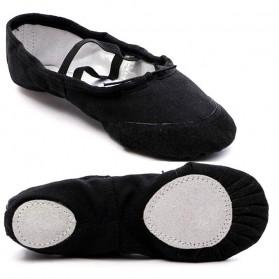 Sepatu Balet Anak Bahan Canvas Dancing Pointe Shoe Size 29 - Black