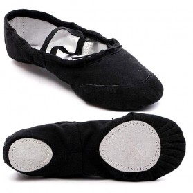 Sepatu Balet Anak Bahan Canvas Dancing Pointe Shoe Size 32 - Black