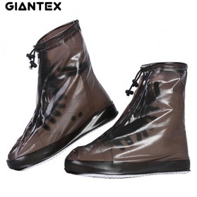 GIANTEX Cover Hujan Sepatu Waterproof Semi Transparent Size L - Z-D203-1 - Coffee - 1