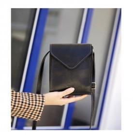 Tas Selempang Kasual Wanita PU Leather - XB01-407 - Black