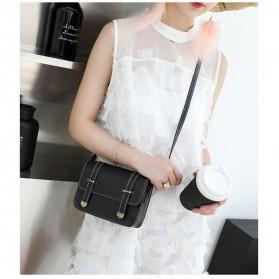 Tas Selempang Mini Korean Style Messenger Bag - X940539 - Black - 2
