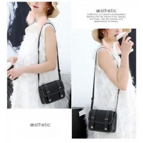 Tas Selempang Mini Korean Style Messenger Bag - X940539 - Black - 3