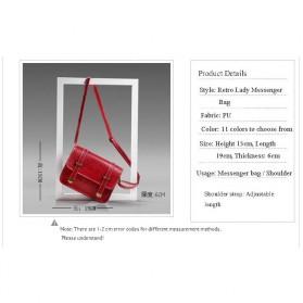Tas Selempang Mini Korean Style Messenger Bag - X940539 - Black - 7