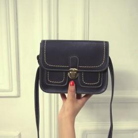 Tas Selempang Korean Retro Style Messenger Bag - JM1541 - Black - 2