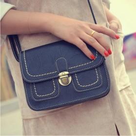 Tas Selempang Korean Retro Style Messenger Bag - JM1541 - Black - 3