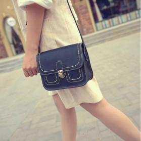 Tas Selempang Korean Retro Style Messenger Bag - JM1541 - Black - 4
