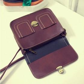 Tas Selempang Korean Retro Style Messenger Bag - JM1541 - Black - 7