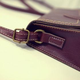 Tas Selempang Korean Retro Style Messenger Bag - JM1541 - Black - 8