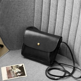 Tas Selempang Simple Korean Small Satchel Bag - CN-298 - Black