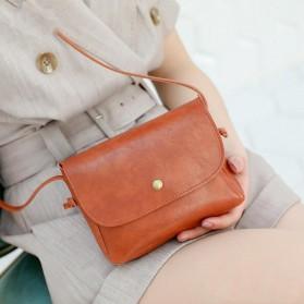 Tas Selempang Simple Korean Small Satchel Bag - CN-298 - Black - 2