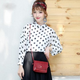 Tas Selempang Simple Korean Small Satchel Bag - CN-298 - Black - 4