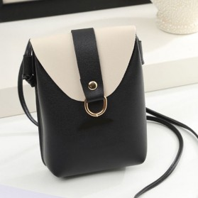 Tas Selempang Mini Korean Messenger Bag - 6H0075 - Black