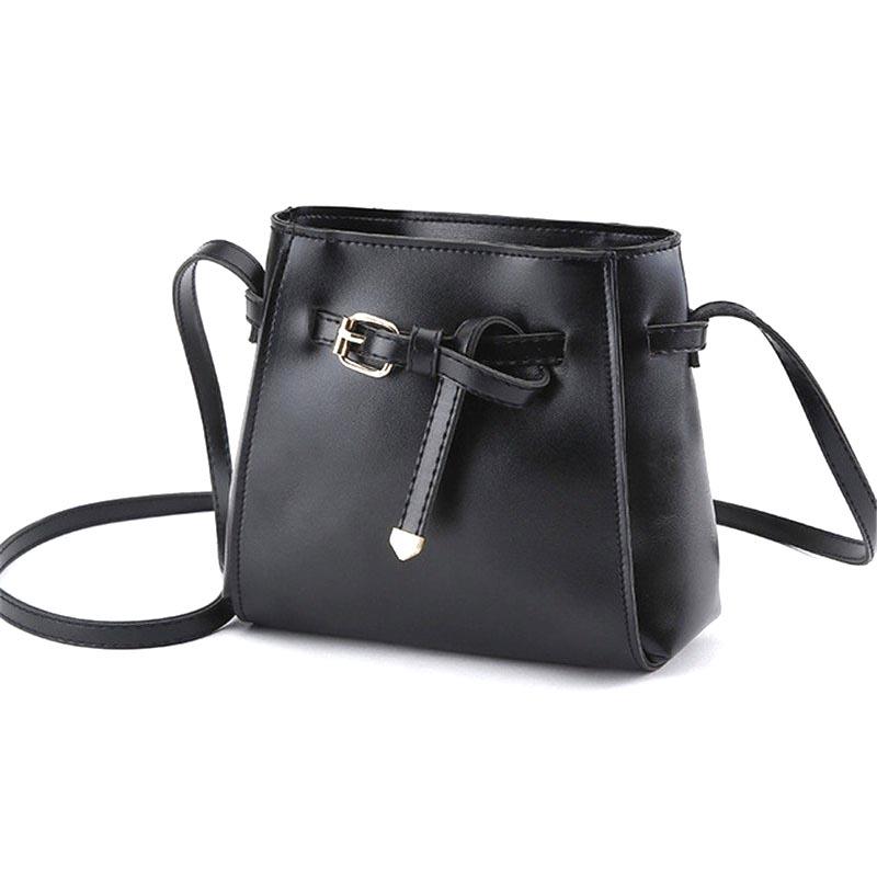 ... Tas Selempang Wanita bahan Kulit Simple Style - NB034 - Black - 1 ... 1f2d5eb357