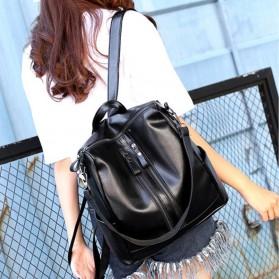 Tas Ransel Kulit Hybrid Style Wanita - NINEFOX - Black - 8