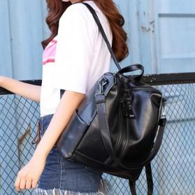 Tas Ransel Kulit Hybrid Style Wanita - NINEFOX - Black - 10