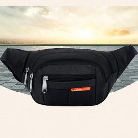 Hengreda Sport Tas Pinggang Selempang Waistbag Pria dan Wanita - TM572 - Black - 1