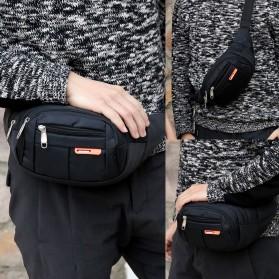 Hengreda Sport Tas Pinggang Selempang Waistbag Pria dan Wanita - TM572 - Black - 2