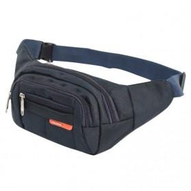 Hengreda Sport Tas Pinggang Selempang Waistbag Pria dan Wanita - TM572 - Black - 3