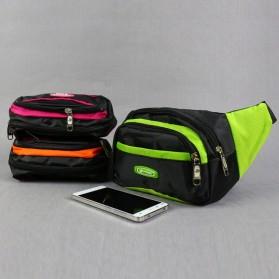 Hengreda Sport Tas Pinggang Selempang Waistbag Pria dan Wanita - TM572 - Black - 5