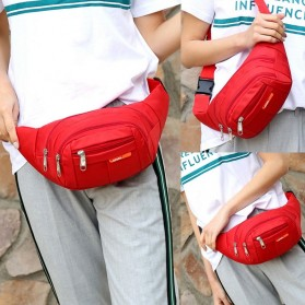 Hengreda Sport Tas Pinggang Selempang Waistbag Pria dan Wanita - TM572 - Black - 7