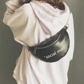 Tas Selempang Wanita Sling Bag Waistbag Social Man - 2S8043 - Black