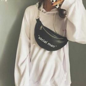 Tas Selempang Wanita Sling Bag Waistbag Social Man - 2S8043 - Black - 3