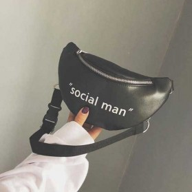 Tas Selempang Wanita Sling Bag Waistbag Social Man - 2S8043 - Black - 4