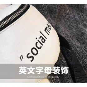 Tas Selempang Wanita Sling Bag Waistbag Social Man - 2S8043 - Black - 7