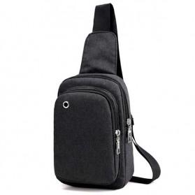 Tas Selempang Sling Bag Oxford - 0805 - Black