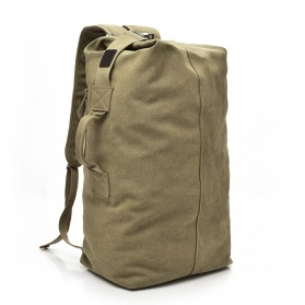 Dida Bear Tas Ransel Travel Kanvas Small Size - 170037 - Khaki