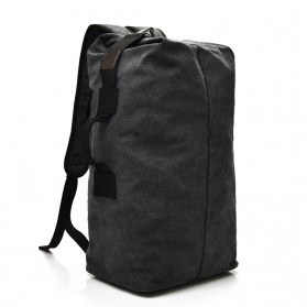 Tas Ransel Travel Kanvas Big Size - 170037 - Black