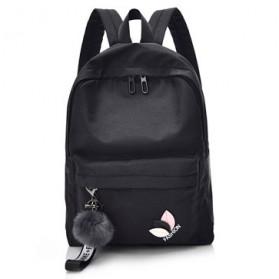 Tas Ransel Wanita Leaf Ribbon Backpack - 170129 - Black - 1