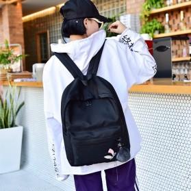Tas Ransel Wanita Leaf Ribbon Backpack - 170129 - Black - 3
