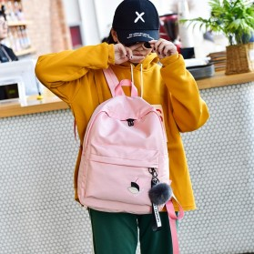 Tas Ransel Wanita Leaf Ribbon Backpack - 170129 - Black - 4