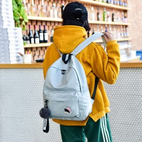 Tas Ransel Wanita Leaf Ribbon Backpack - 170129 - Black - 6