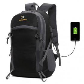 XUAN & YUFAN Tas Ransel Travel dengan USB Charger Port - GC28 - Black