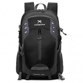 Tas Gunung Travel Outdoor Adventure Waterproof 40L - 0026 - Black