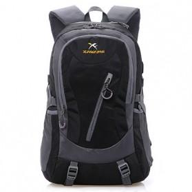 XUAN & YUFAN Tas Ransel Travel 35L dengan USB Charger Port - LD005 - Black