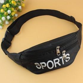 Tas Selempang Pinggang Waistbag Casual Sports Design - 5608 - Black