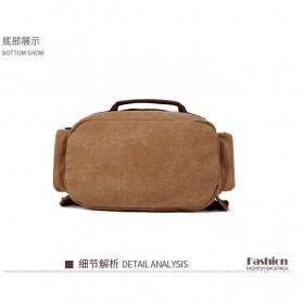 KAKA Tas Ransel Canvas Retro Style - 8046 - Brown - 8