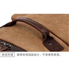 KAKA Tas Ransel Canvas Retro Style - 8046 - Brown - 9