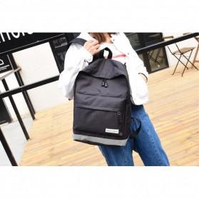 Tas Ransel Korean Style Backpack - K4214 - Black - 2