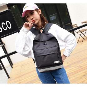 Tas Ransel Korean Style Backpack - K4214 - Black - 3