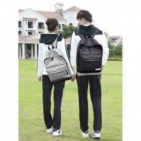 Tas Ransel Korean Style Backpack - K4214 - Black - 4
