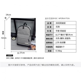 Tas Ransel Korean Style Backpack - K4214 - Black - 6